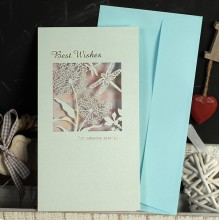 "ОТКРЫТКА ""BEST WISHES"" ROMANTIC BLUE"