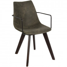 "СТУЛ ""CARRIE"" armchair wooden legs, т/к 3"