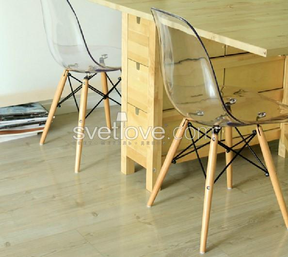 "СТУЛ ""EAMES"" CLEAR GRAY TINTED"