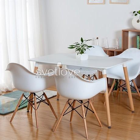 "СТУЛ ""EAMES DAW"" DARK WOOD WHITE"