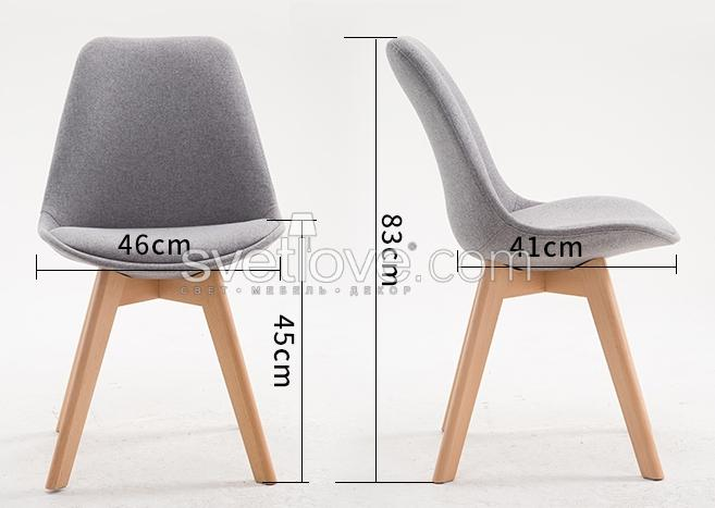 "СТУЛ ""MODERN WOOD"" LIGHT WOOD FABRIC WHITE"