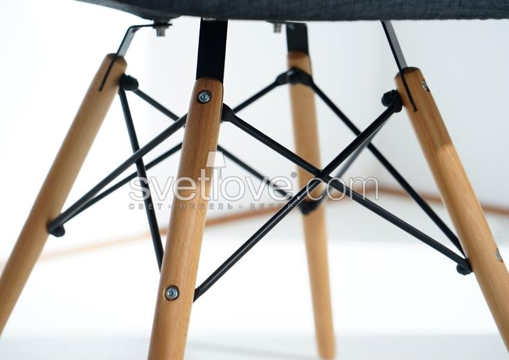 "ПОЛУКРЕСЛО ""EAMES DAW"" PU LEATHER BLACK"